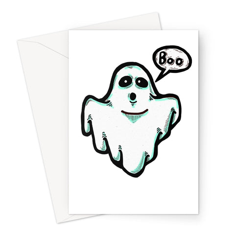 Spooky Ghost Greeting Card