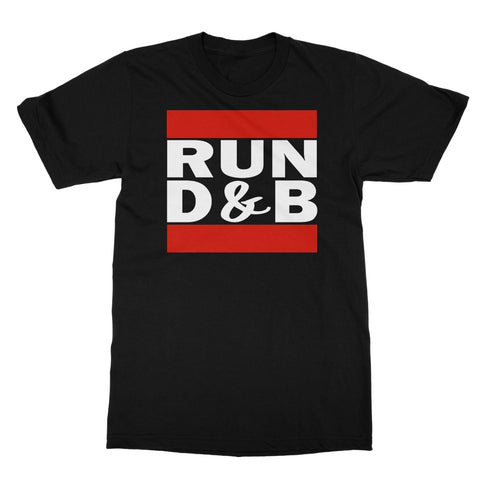 RUN D&B White Print Softstyle T-Shirt
