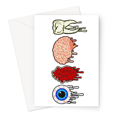 Body Parts Greeting Card