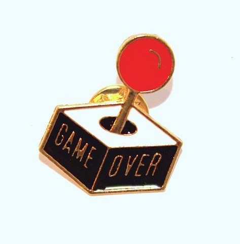 Game Over Enamel Pin-Badge
