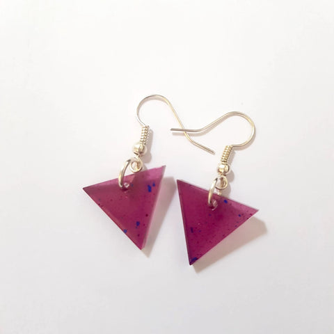 Resin Triangle Earrings
