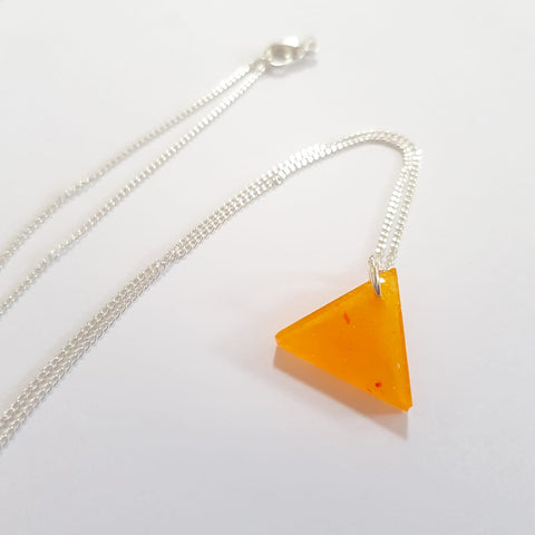 Resin Triangle Pendant Necklace