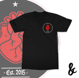 Pierced Heart Pocket Print Softstyle T-Shirt