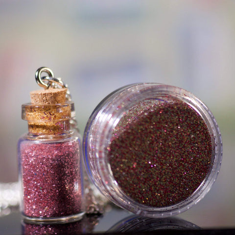 Little Jar of Poison Necklace and Glitter Pot