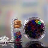 Glitter Bottle Necklace & Body Glitter - Stars