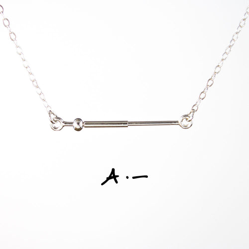 MCNS01 - Morse Code Initial Necklaces