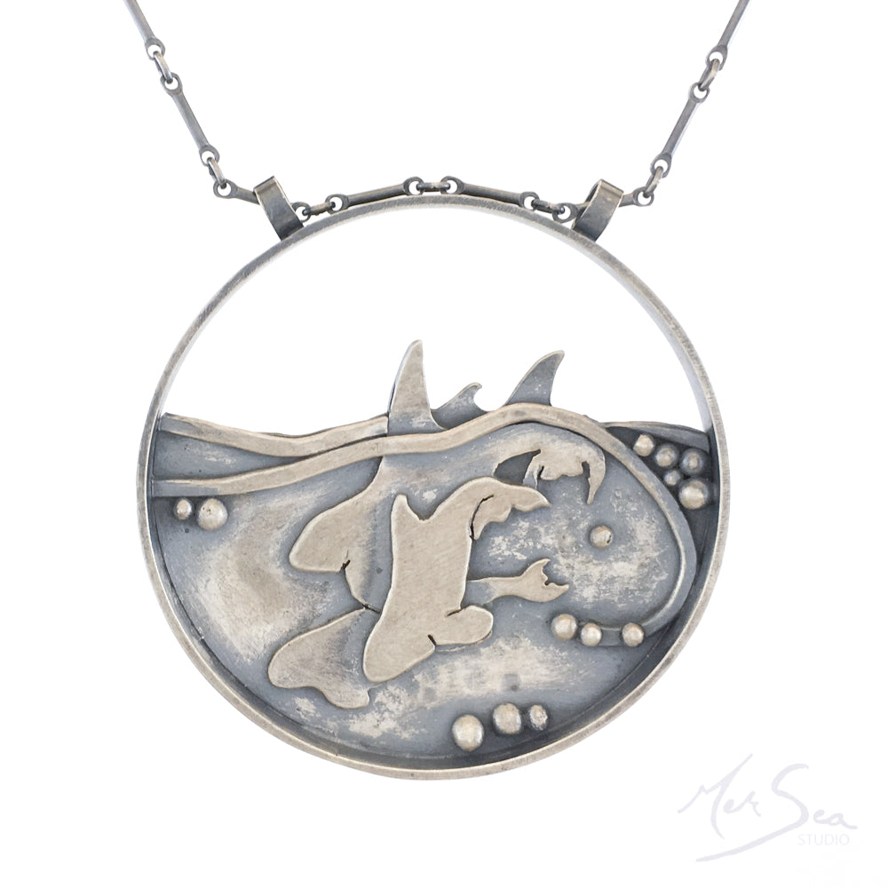 Family of Killer Whales Medallion