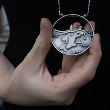 Load image into Gallery viewer, Family of Killer Whales Medallion