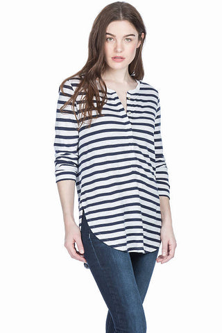 Lilla P 3/4 Sleeve Henley Top