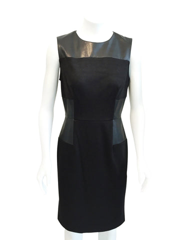 Donna Morgan Leather Panel Dress