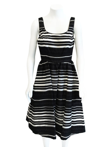 Donna Morgan Monochrome Fit & Flare Dress