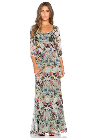 Twelfth Street by Cynthia Vincent Sketch Floral Maxi Dress