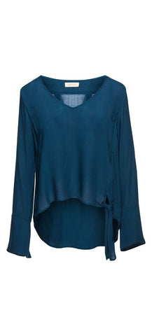 Bella Dahl Side Tie V-Neck Blouse
