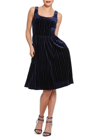 Donna Morgan Velvet Fit and Flare Dress