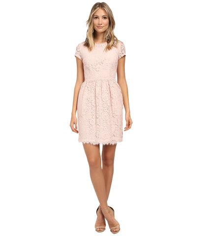 Donna Morgan Pearl Pink Lace Dress