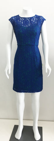 Donna Morgan Blue Lace Dress