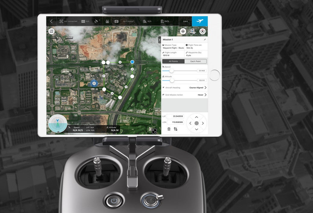DJI GS GS PRO:  Review of the DJI Ground Station App