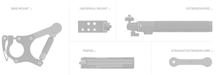 DJI Osmo X3 video camera accessories