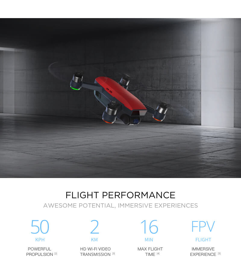 DJI Spark Flight Preformance