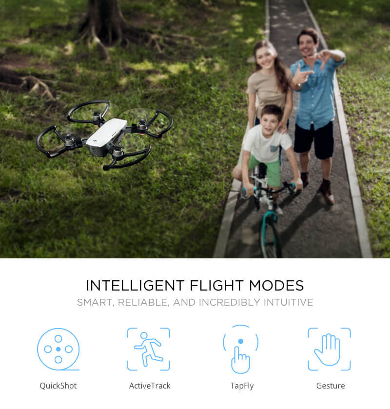 DJI Spark using Intelligent Flight Modes