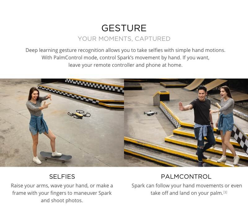 Gesture control for the DJI Spark