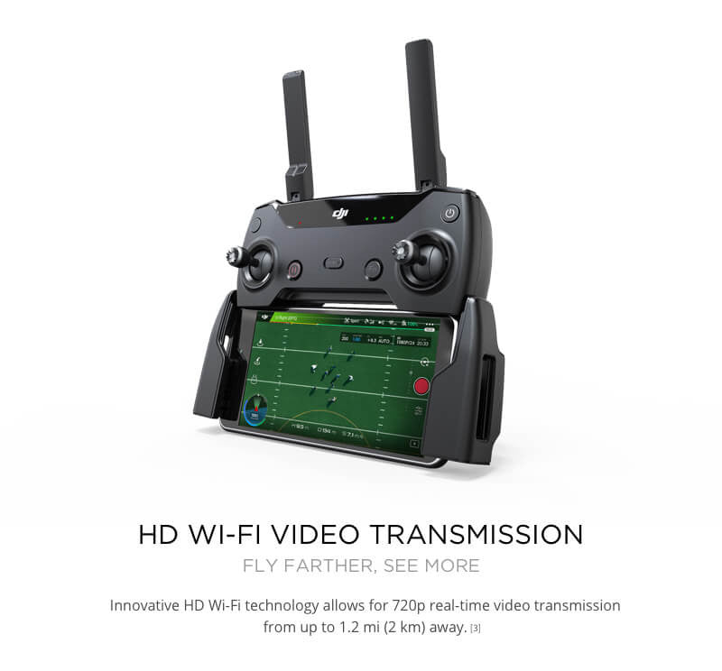 DJI Spark with HD wiFi Video Transmission