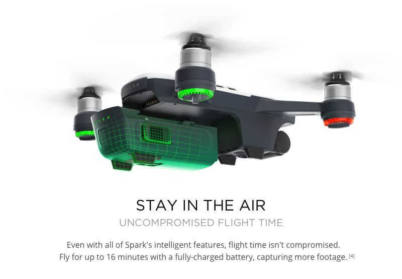 16 Minute battery life for the DJI Spark