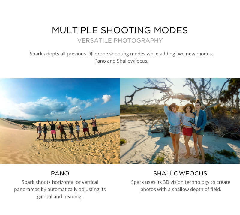 DJI Spark with Multiple Shooting Modes
