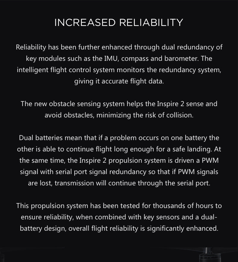 Increased Reliability for the Inspire 2
