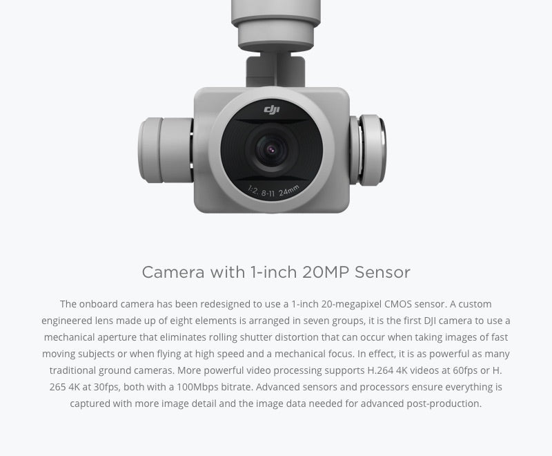 Phantom 4 Pro Camera with 1-inch 20MP Sensor