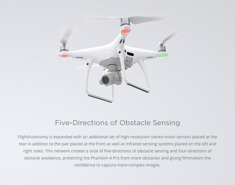 Phantom 4 Pro 5 Direction Obstacle Sensing
