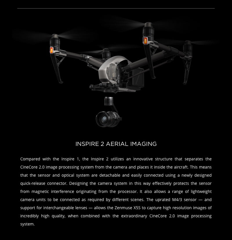 Zenmuse X5S Aerial Imaging for Inspire 2