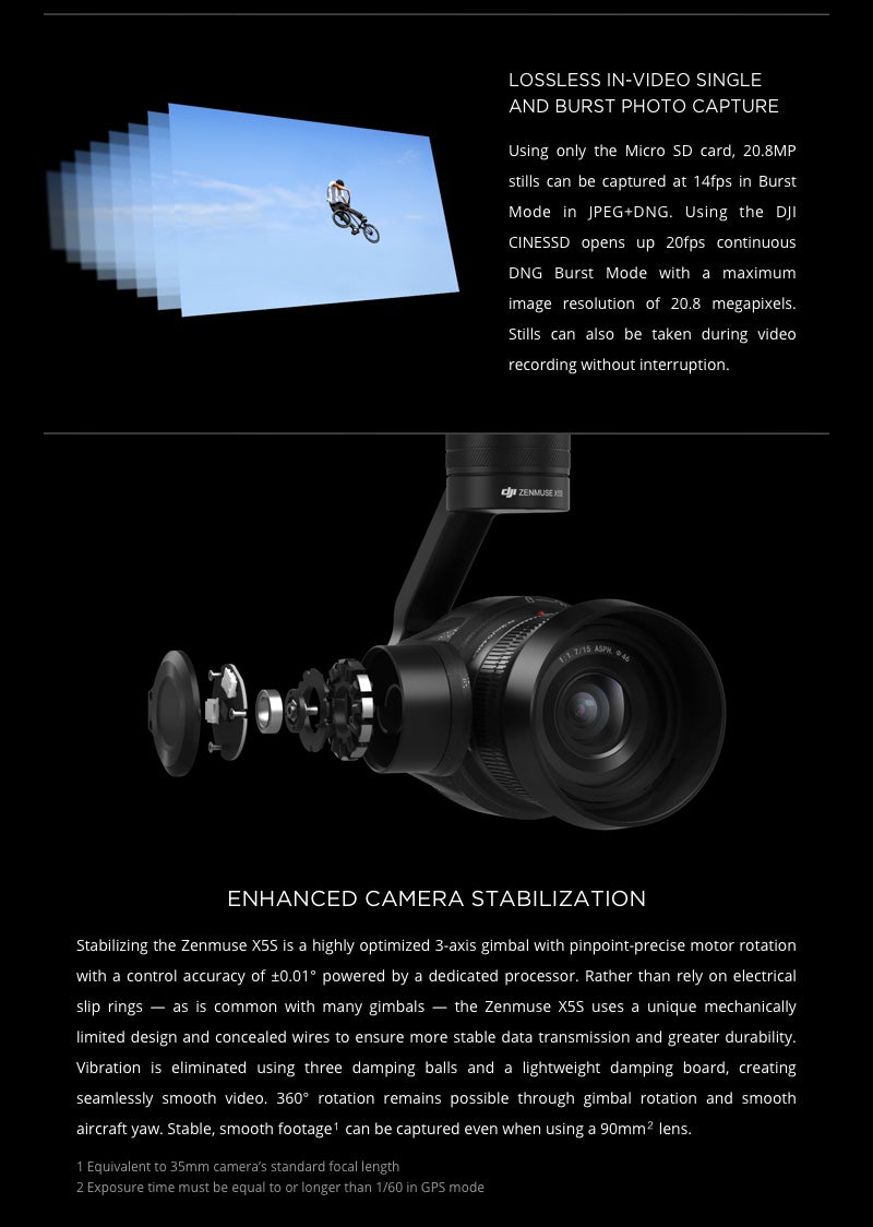 Zenmuse X5S - Enhanced Stabilization