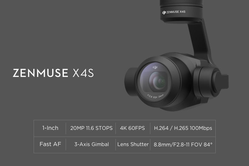 Zenmuse X4S for Inspire 2