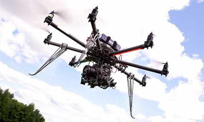 drones used to event protections and security