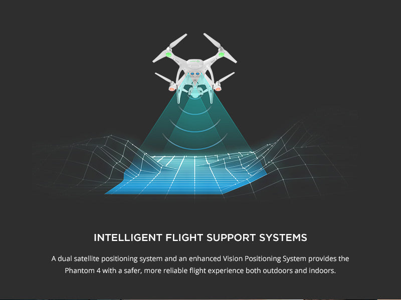 Phantom 4 with Intelligent Flight Support Systems