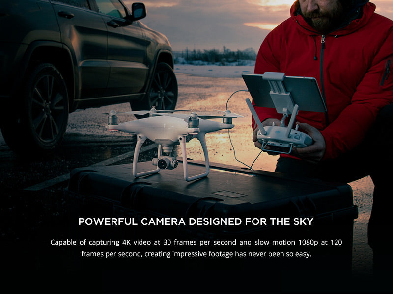 Phantom 4 - Powerful camera designed for the sky