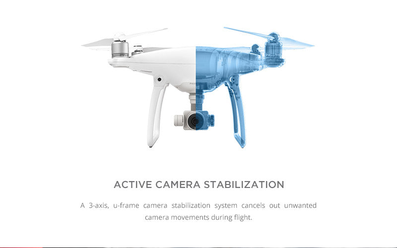 DJI Phantom 4 with Active Camera Stabilization