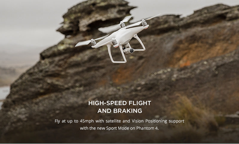 DJI Phantom 4 fly up to 45 mph