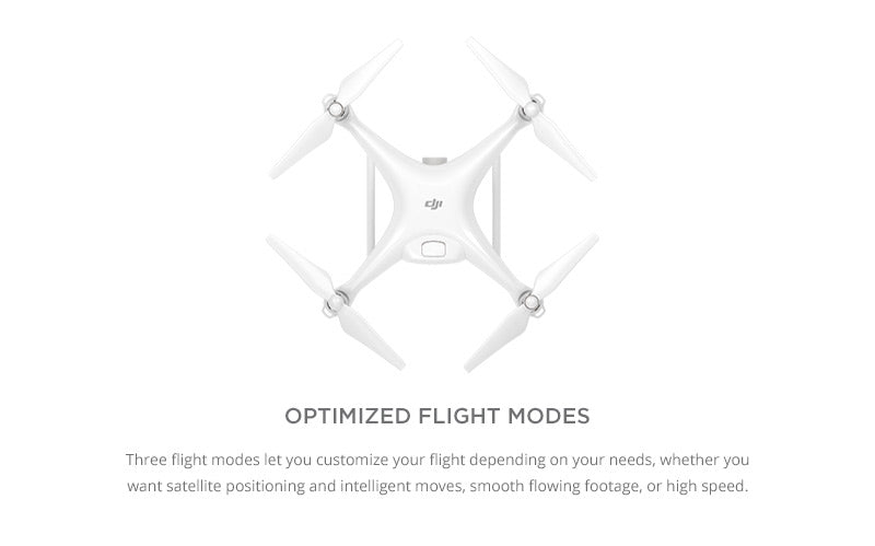 DJI Phantom 4 with optimized three different flight modes