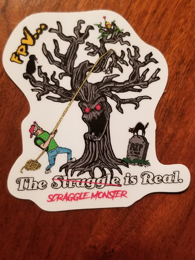 "2"" Scraggle Monster Sticker - Stickers"