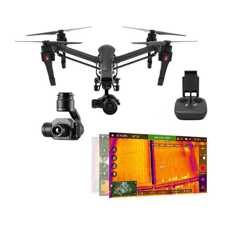 dji inspire 1 x5 pro black with zenmuse xt thermal. Black Bedroom Furniture Sets. Home Design Ideas