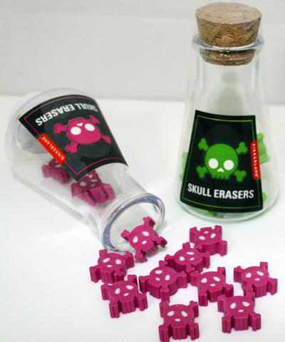 Mad Scientist Skull Erasers