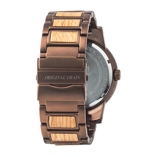 Whiskey Espresso Wood Watch