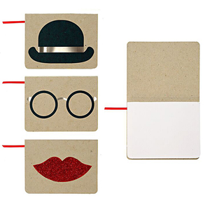 Hat, Glasses and Lips Notebooks