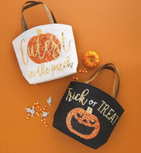 Load image into Gallery viewer, Cutest In The Patch Halloween Dazzle Tote Bag