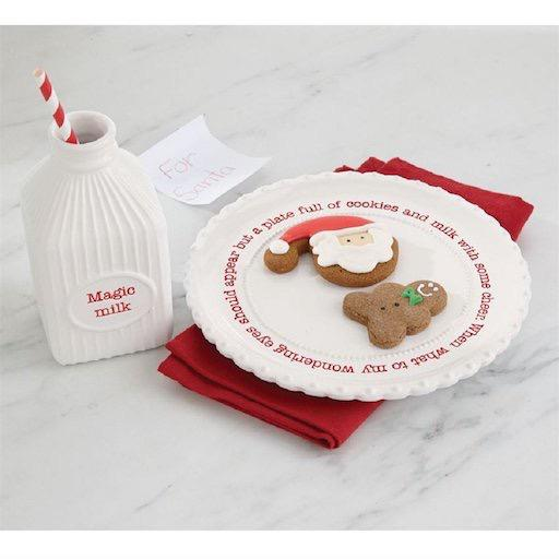 Santa's Milk And Cookie Set