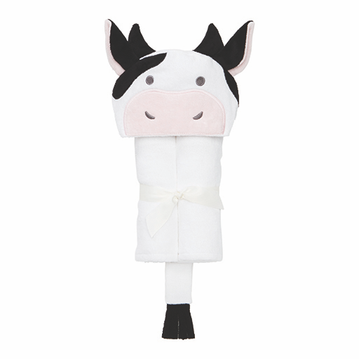 White and Black Cow Bath Wrap