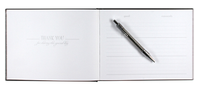 Load image into Gallery viewer, Customizable Guest Book Black Leather