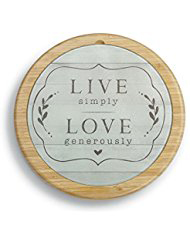Live Love Glass Cutting Board and Lazy Susan Set